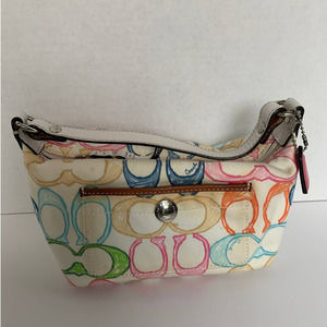 Coach Hampton Mini Hobo Bag Multicolor Scribble
